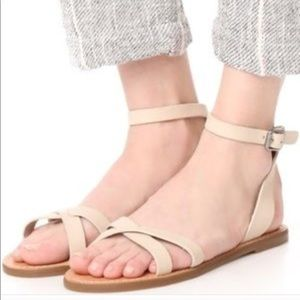 Like New Madewell Boardwalk Ankle Strap Sandals